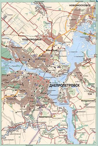Карта Днепропетровска. Карта