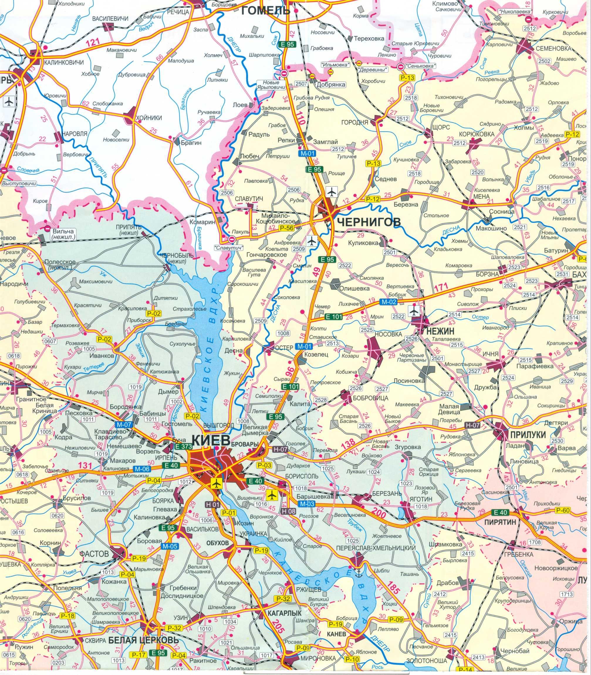 Karta Ukrainy Karta Kievskoj Oblasti Karta Ukrainy S Gorodami