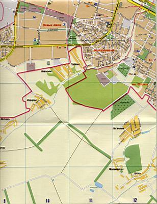 Карта Харькова подробная в 1см