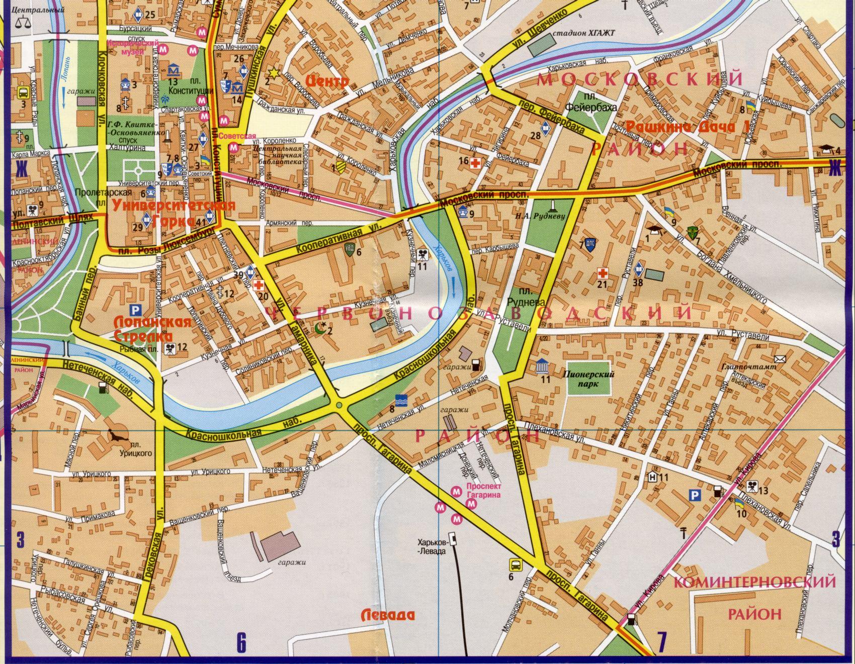 Карта харькова подробная карта