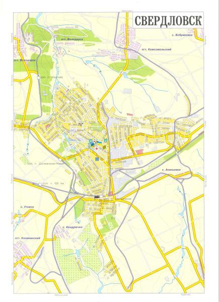 Карта Свердловска Луганской области г.Свердловск: http://map1.com.ua/122409.html
