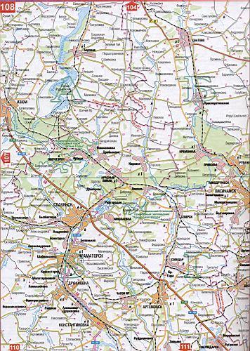 Карта Луганской области