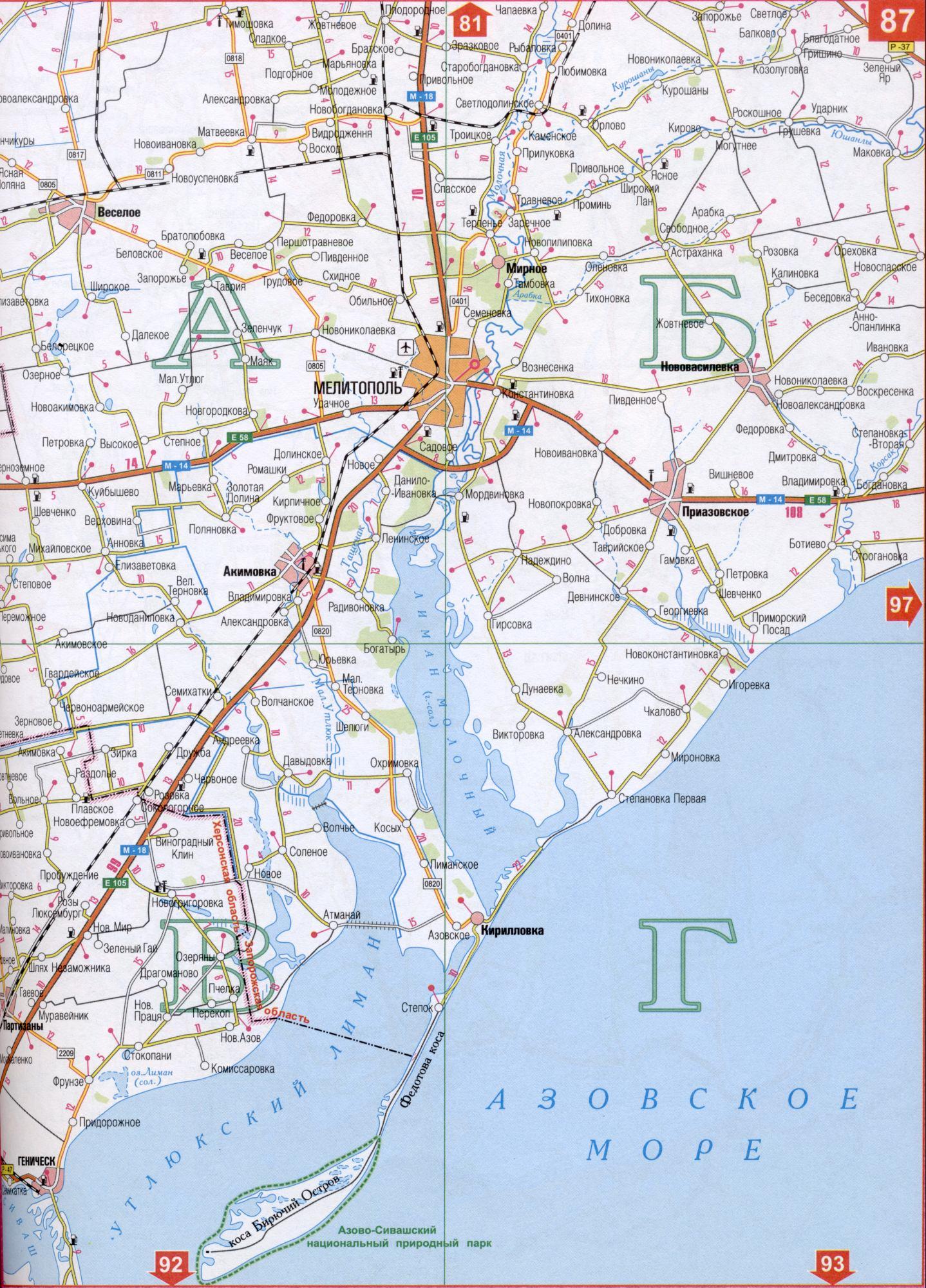 Подробная Карта Кирилловки