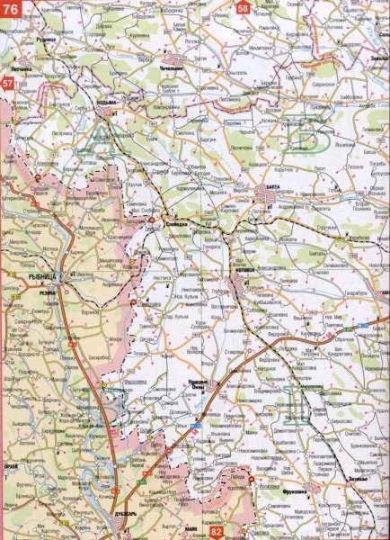 Карта Одесской области масштаба 1см=5км (Украина областной ...: http://map1.com.ua/128014.html