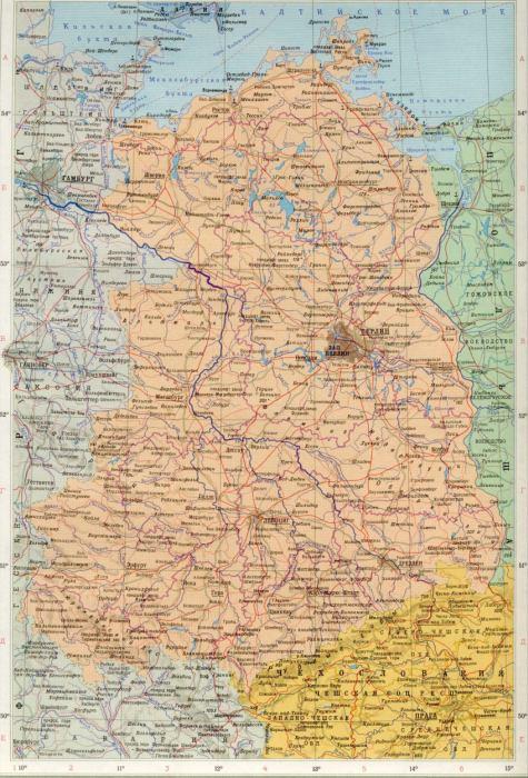 Карта гдр 1988 1см 20км