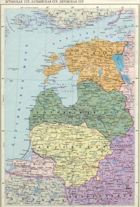 Карта прибалтики калининградской