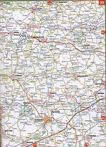 Карта Черкасской области