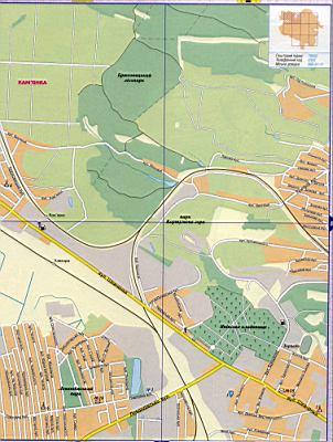 Карта Львова подробная