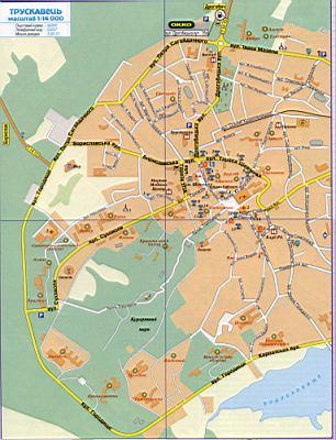 Карта трускавца подробная карта г