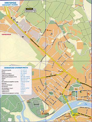 Карта Ужгорода подробная (Украина карта г.Ужгород) в 1 см ...: http://map1.com.ua/193011.html