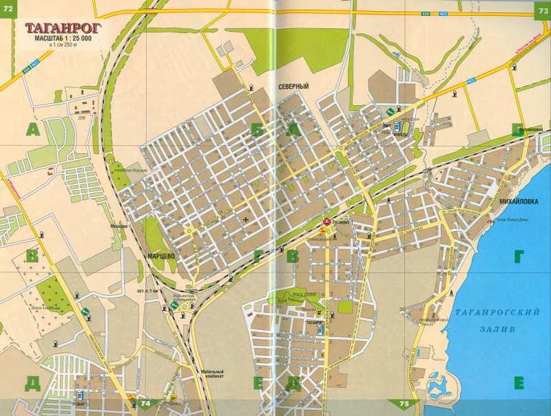 Карта таганрога ростовская область