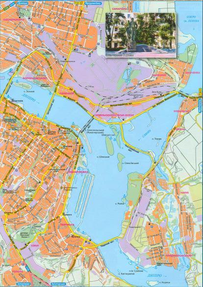 Карта Запорожья подробная  улицы номера домов районы