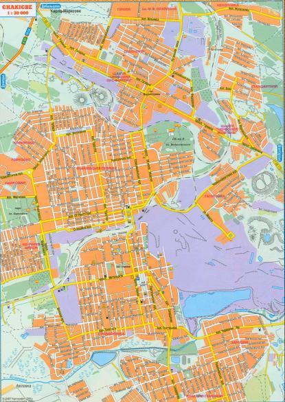 Подробная карта улиц города