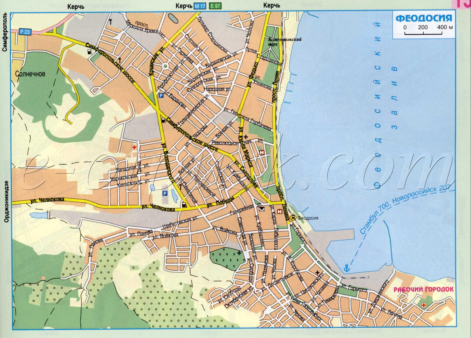 Карта феодосии.