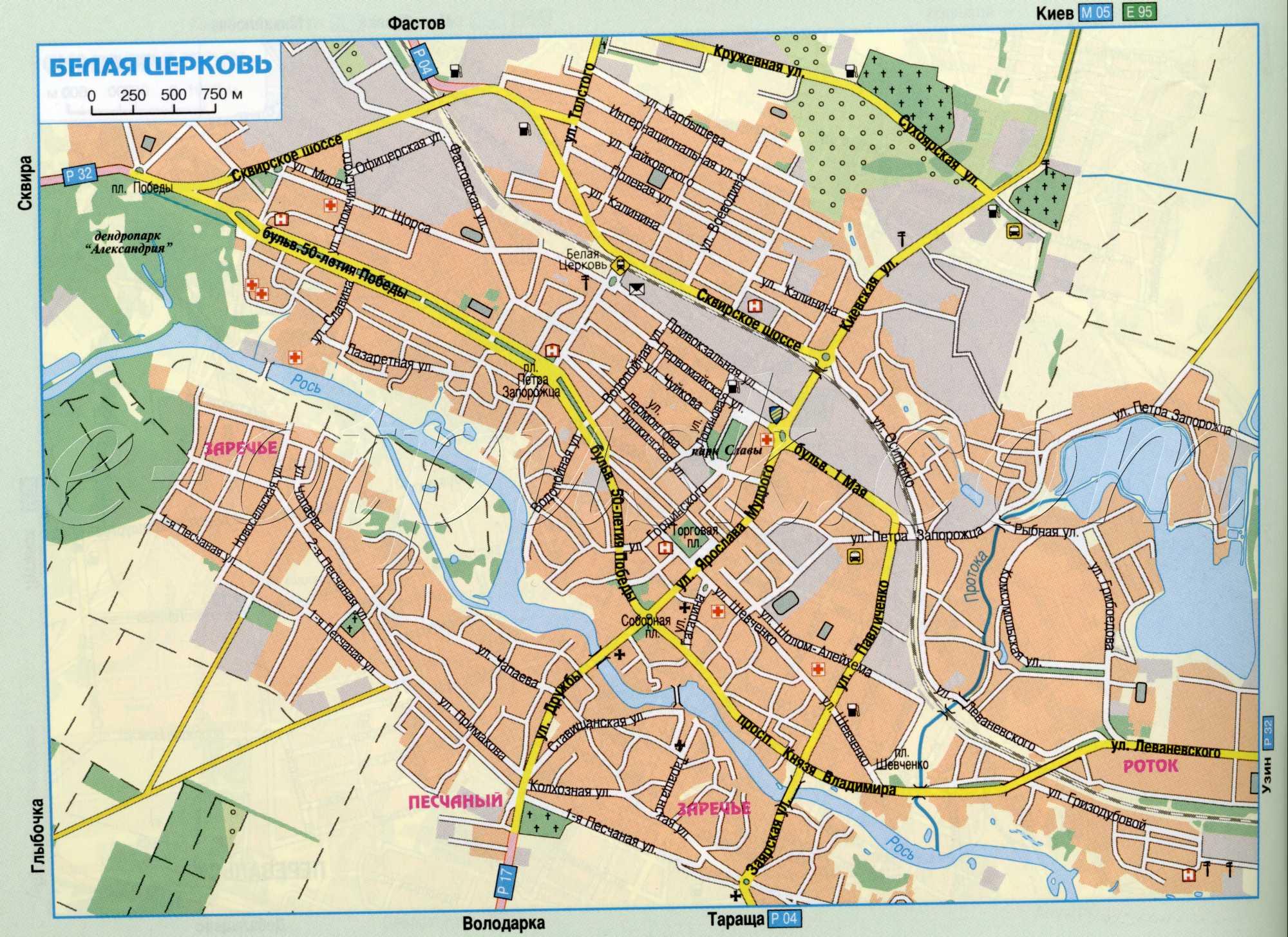 Карта Белой Церкви автомобильная. Подробная карта ...: http://map1.com.ua/map91066_0_0.htm