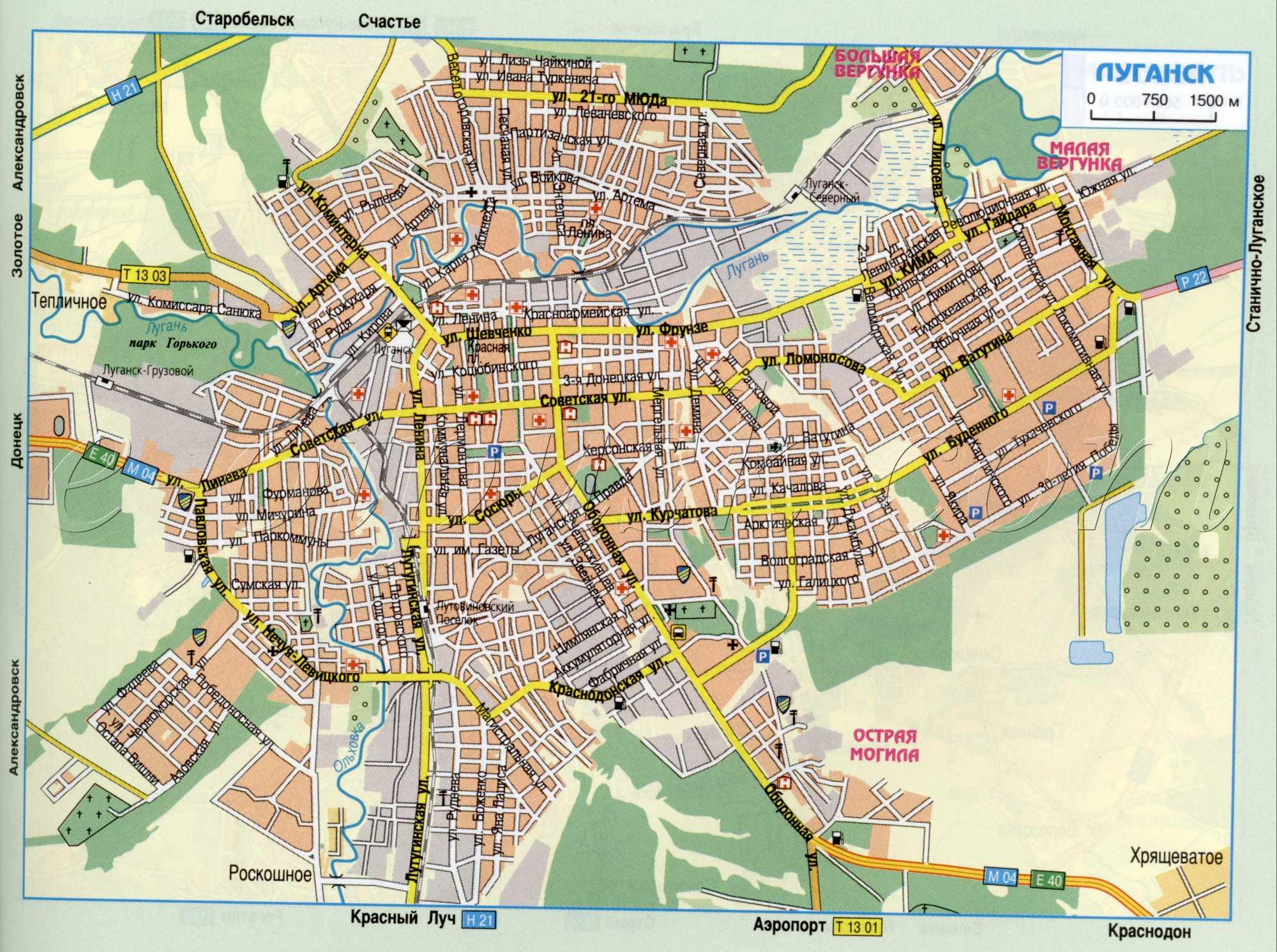 Схема города украины