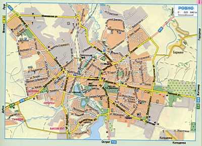 Карта Ровно (Украина авто дороги г.Ровно). подробная карта ...: http://map1.com.ua/91590.html