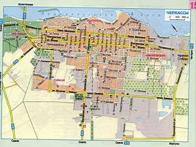 Карта Черкасс автомобильная